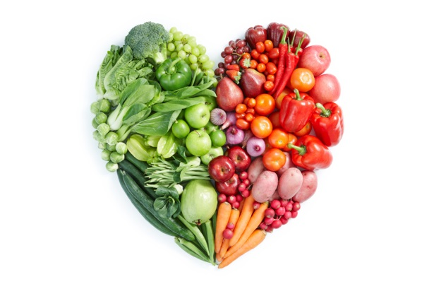 Сердце из овощей